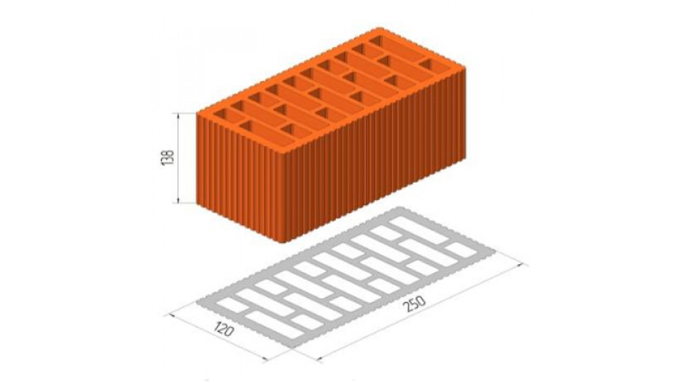 Блок Керамейя ТеплоКерам поризований блок 2,12 НФ