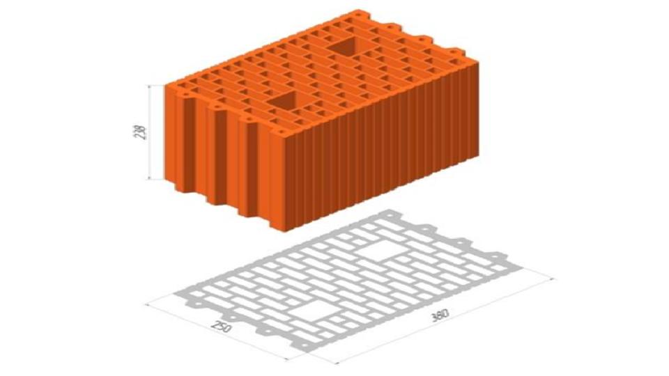 Блок Керамейя ТеплоКерам поризований 11,6 НФ Блок 25й