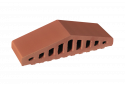 Профільна клінкерна цегла для огорожи 310/250х100х78 KingKlinker Ruby-red 01