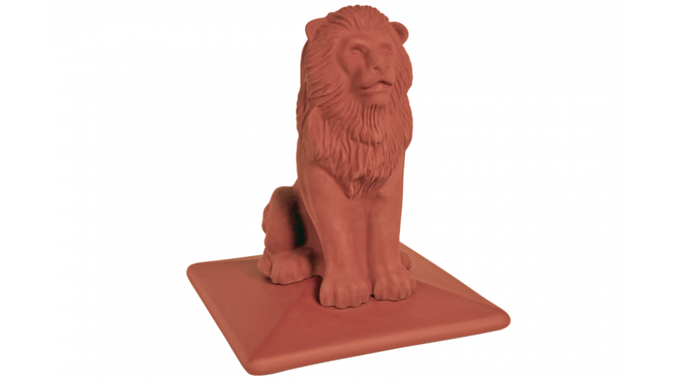 Кришка для стовпчика клінкерна KingKlinker Ruby-red 01 ROYAL Lion