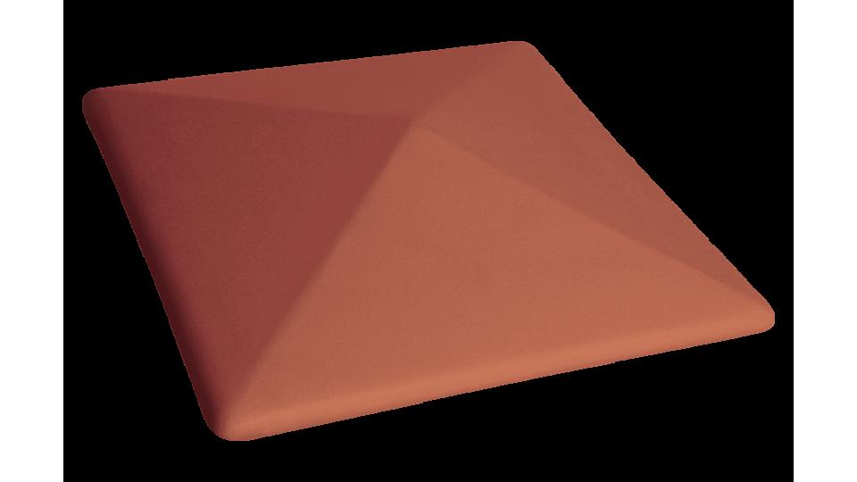 Кришка для стовпчика клінкерна KingKlinker Ruby-red 01