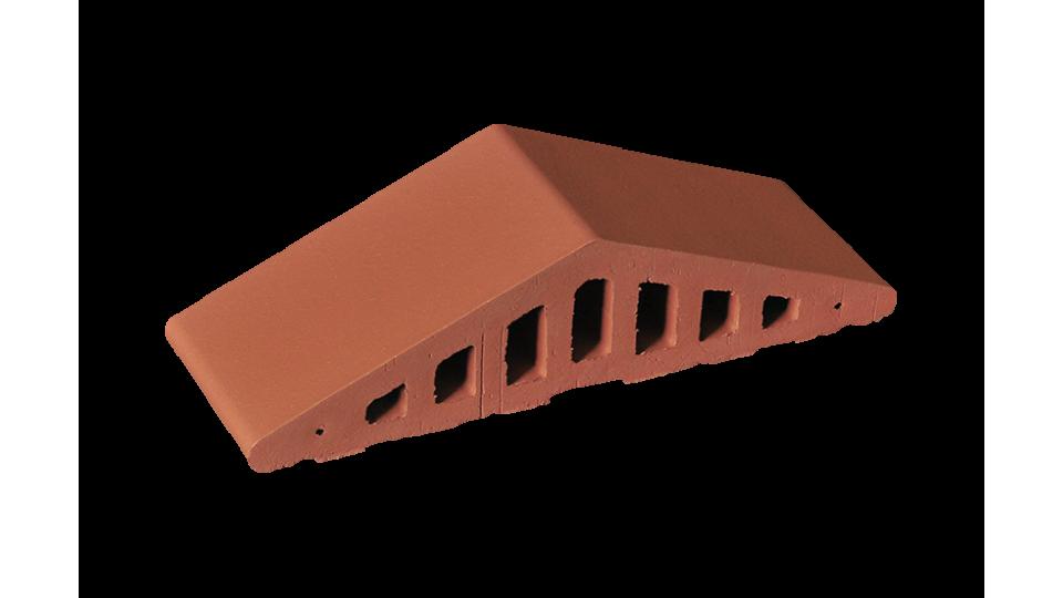 Профільна клінкерна цегла для огорожи (закруглений) 310/250х100х78 KingKlinker Ruby-red 01