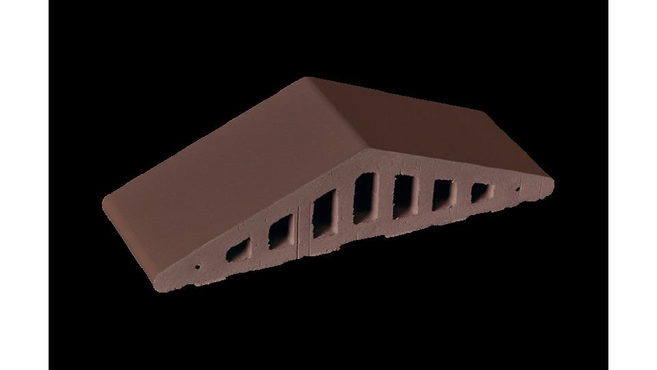 Профільна клінкерна цегла для огорожи (закруглений) 310/250х100х78 KingKlinker Natural brown 03