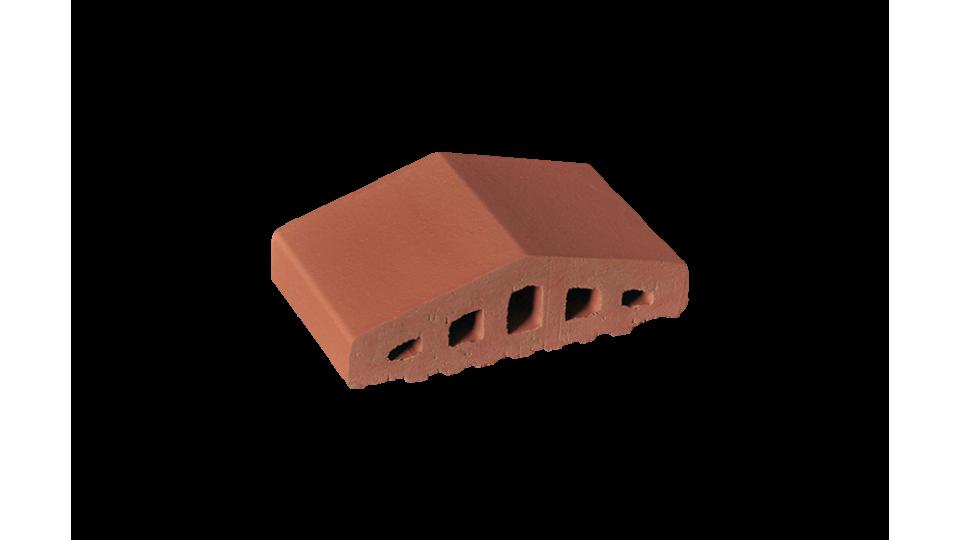 Профільна клінкерна цегла для огорожи 180/120х100х58 KingKlinker Ruby-red 01