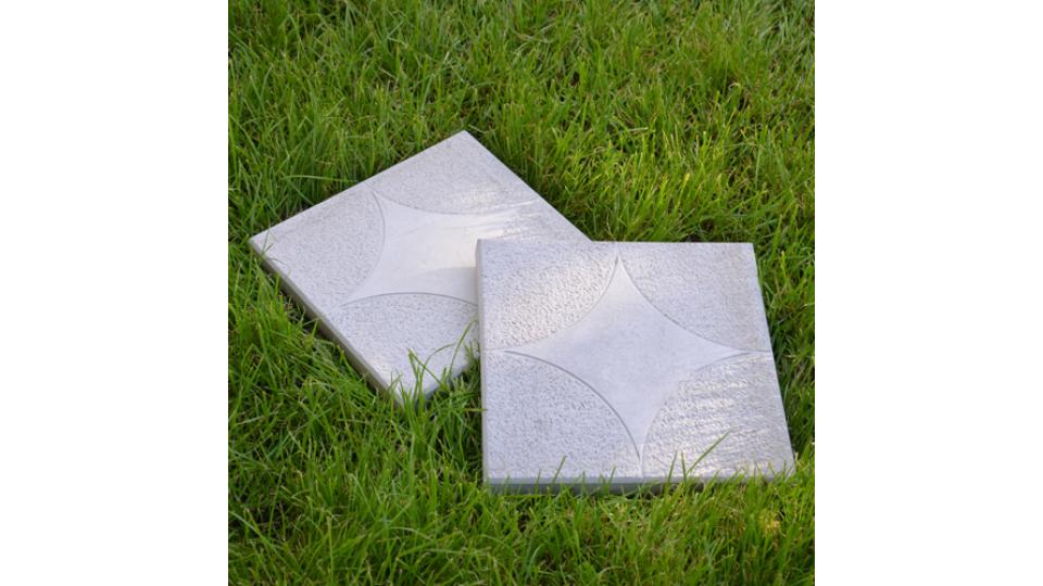 Тротуарна плитка Зірка 3 см, сірий