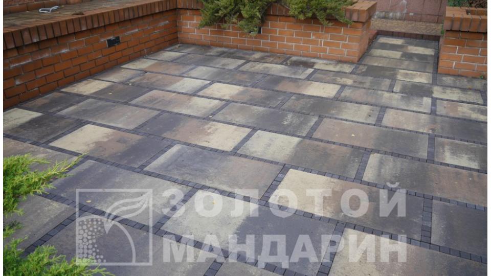 Тротуарна плитка Золотой Мандарин Плита 90х45, росано
