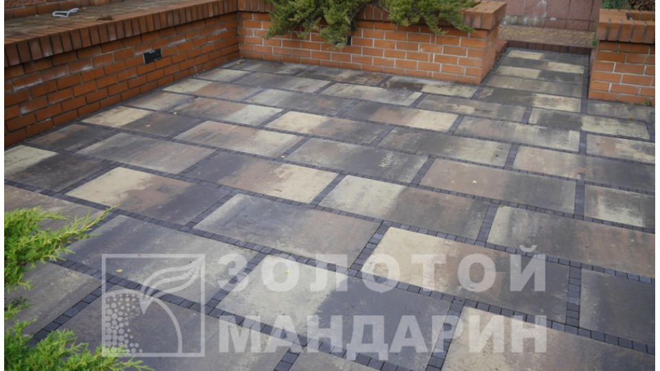 Тротуарна плитка Золотой Мандарин Плита 90х45, коричневий