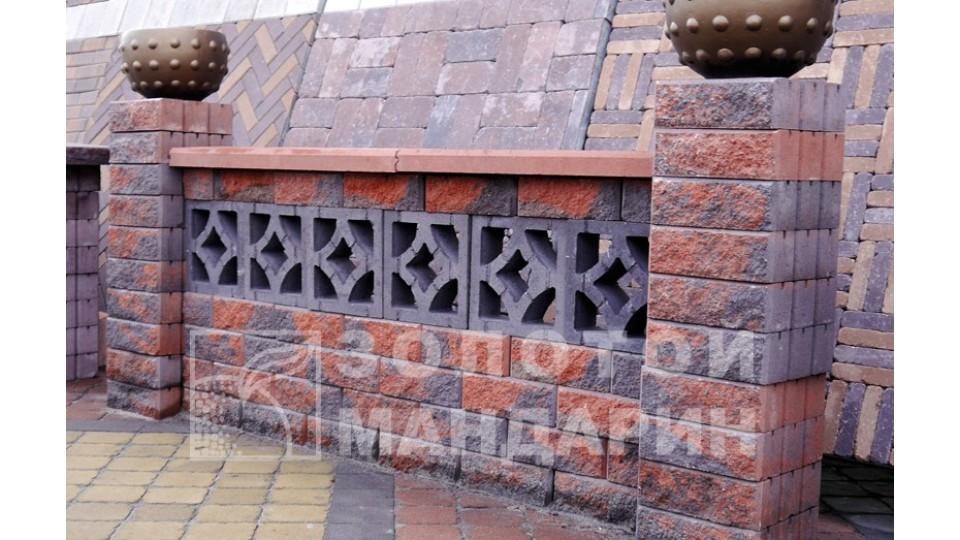 Заборний блок декоративний Золотий Мандарин 300х200х100 мм болонья