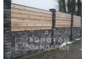 Заборний блок декоративний Золотий Мандарин 300х300х100 мм сірий