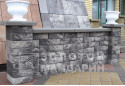 Заборний блок декоративний Золотий Мандарин 300х300х100 мм грейс