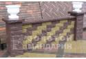 Заборний блок декоративний Золотий Мандарин 300х200х100 мм коричневий