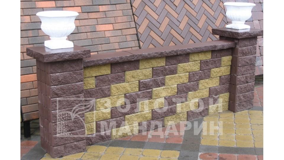 Заборний блок декоративний Золотий Мандарин 300х100х100 мм коричневий