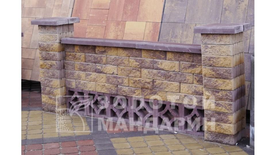Заборний блок Золотий Мандарин Гармонія 300х300х90 мм коричневий
