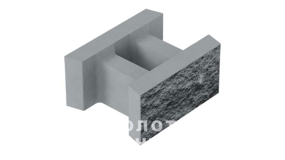 Блок незнімної опалубки Золотой Мандарин декоративний  сірий 400 мм