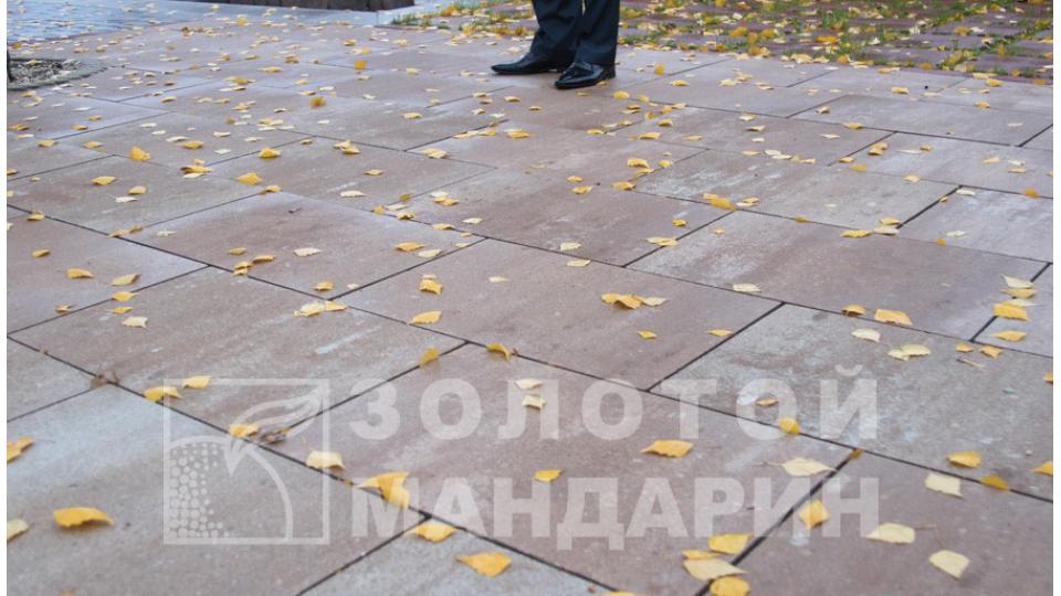 Тротуарна плитка Золотой Мандарин Моноліт 8 см, тренто
