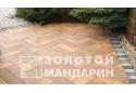 Тротуарна плитка Золотой Мандарин Паркет 6 см, мерсела