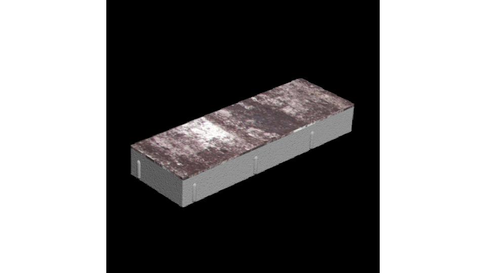 Тротуарна плитка Золотой Мандарин Паркет 6 см, грейс