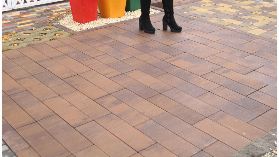 Тротуарна плитка Золотой Мандарин Паркет 6 см, савона