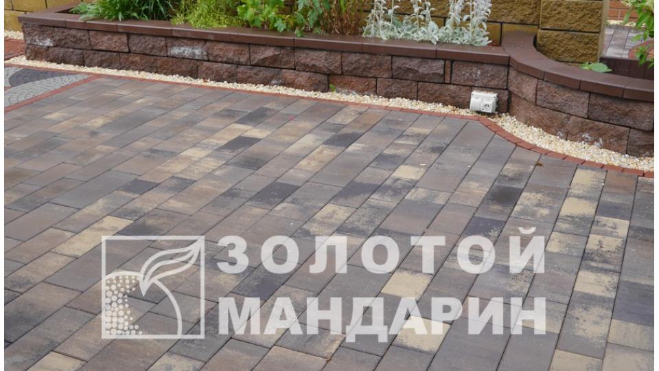 Тротуарна плитка Золотой Мандарин Паттерн 6 см, нуоро