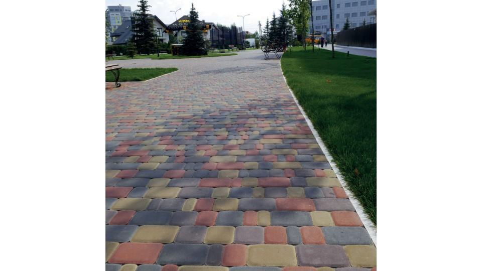 Тротуарна плитка Золотой Мандарин Старе місто 6 см, гірчичний