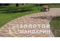 Тротуарна плитка Золотой Мандарин Старе місто 8 см, червоний