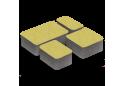 Тротуарна плитка Золотой Мандарин Старе місто 6 см, жовтий