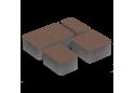Тротуарна плитка Золотой Мандарин Старе місто 4 см, коричневий