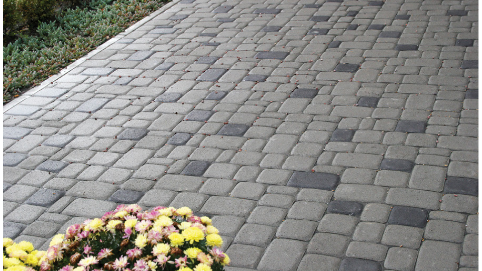 Тротуарна плитка Золотой Мандарин Старе місто 8 см, сірий