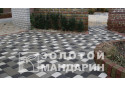 Тротуарна плитка Золотой Мандарин Стара площа 6 см, чорний