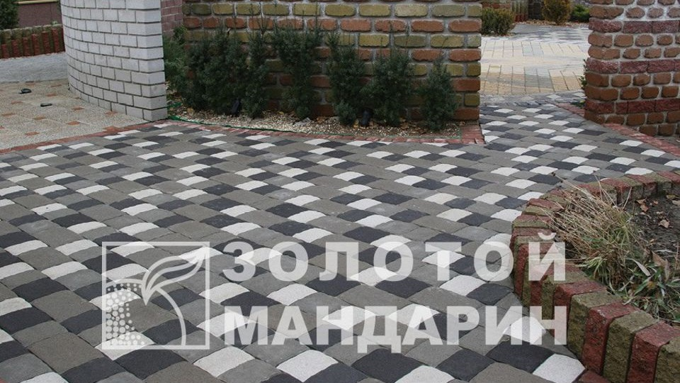 Тротуарна плитка Золотой Мандарин Стара площа 6 см, білий