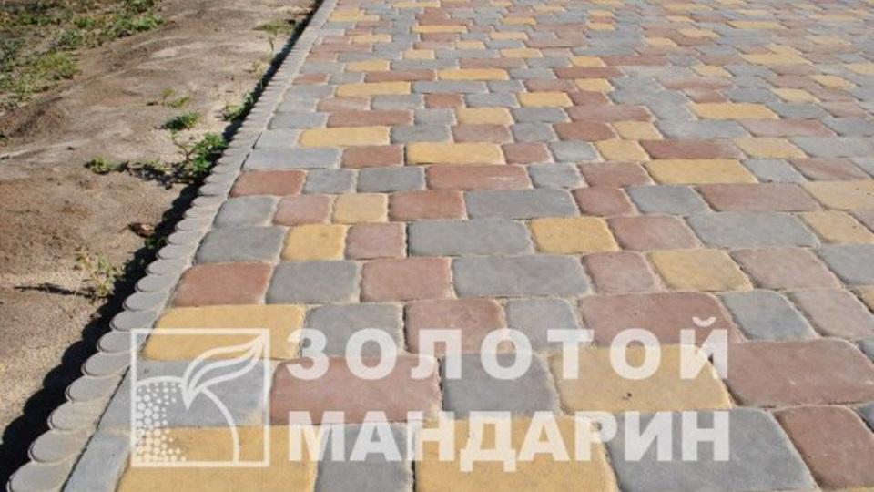 Тротуарна плитка Золотой Мандарин Стара площа 6 см, жовтий