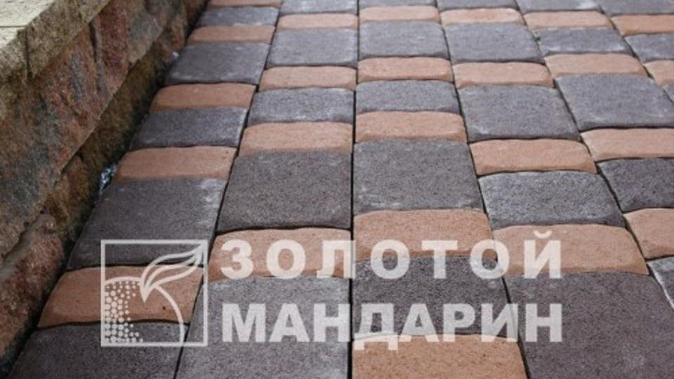 Тротуарна плитка Золотой Мандарин Стара площа 6 см, персиковий