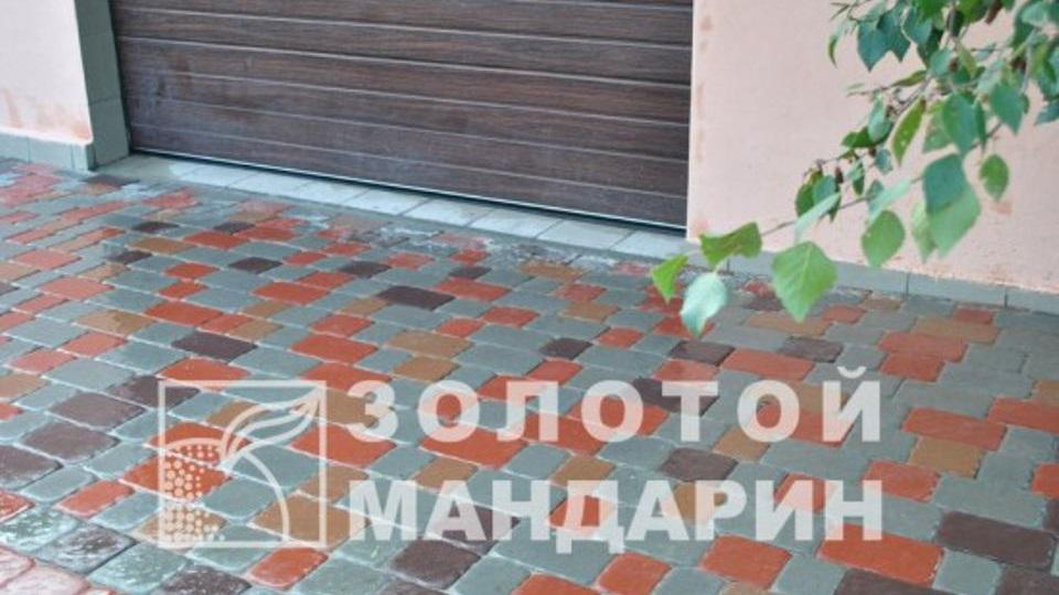 Тротуарна плитка Золотой Мандарин Стара площа 6 см, сірий