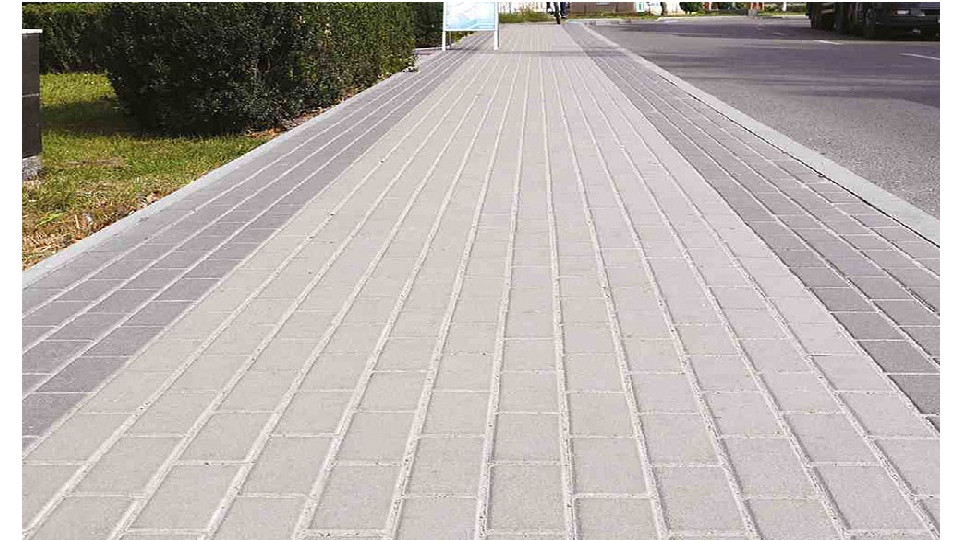Тротуарна плитка Золотой Мандарин Цегла 200х100 6 см, сірий
