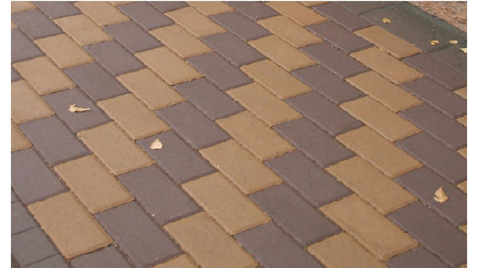 Тротуарна плитка Золотой Мандарин Цегла 200х100 6 см, коричневий
