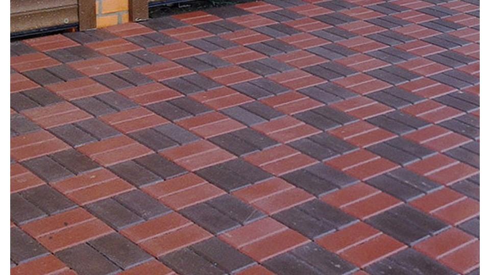 Тротуарна плитка Золотой Мандарин Цегла 200х100 4 см, червоний