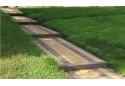 Тротуарна плитка Золотой Мандарин Цегла 200х100 6 см, жовтий
