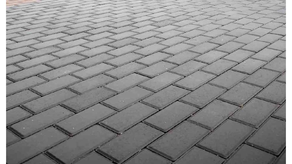 Тротуарна плитка Золотой Мандарин Цегла 200х100 8 см, чорний