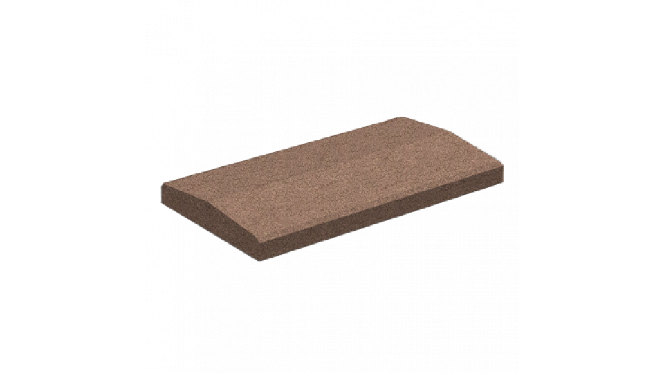 Кришка для парапету Золотой Мандарин 50х26, коричнева