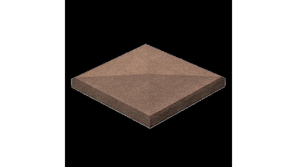 Кришка для стовпчика 48х48, коричнева