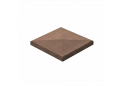 Кришка для стовпчика Золотой Мандарин 38х38, коричнева