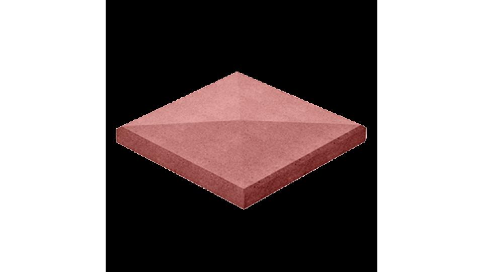 Кришка для стовпчика Золотой Мандарин 48х48, червона