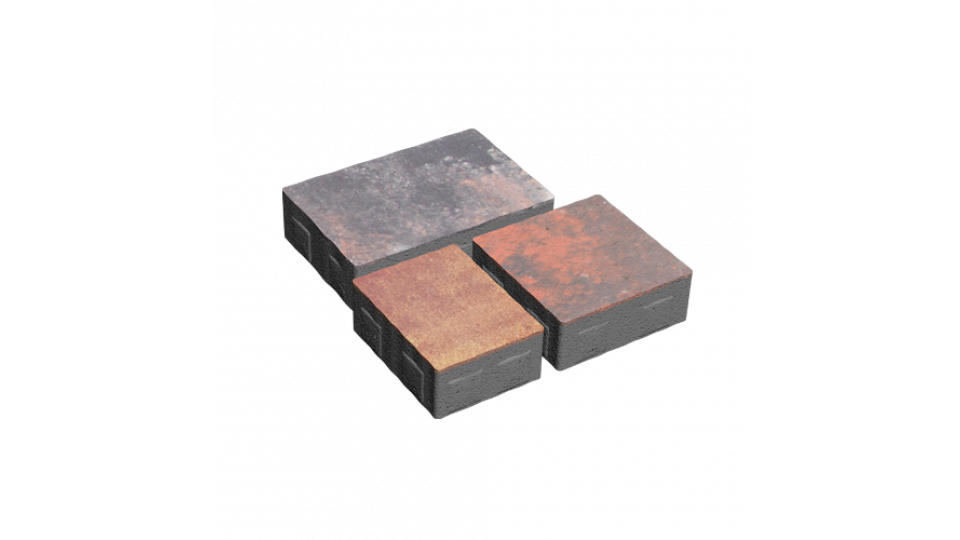 Тротуарна плитка Золотой Мандарин Плац 6 см, сірий