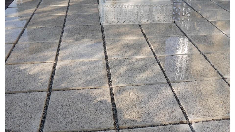 Терасна плита Золотой Мандарин полірована 500*500 Вайт