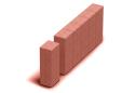 Поребрик квадратний Золотой Мандарин 8 см, червоний