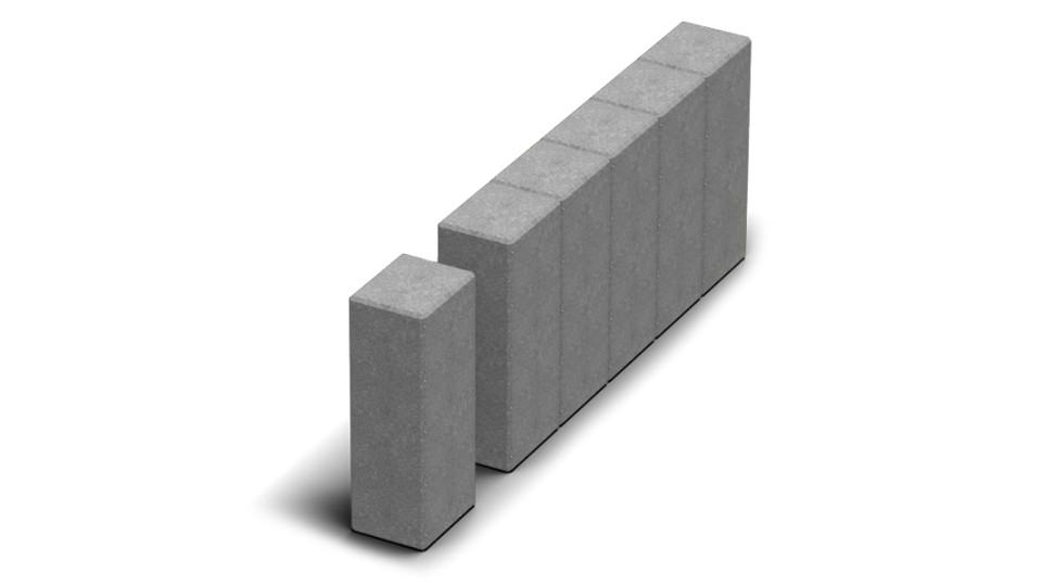 Стовпчик квадратний Золотой Мандарин 8 см, сірий