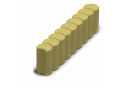 Поребрик круглий Золотой Мандарин 8 см, гірчичний
