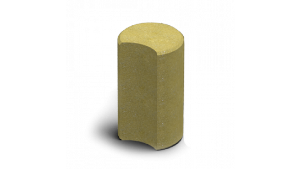Стовпчик круглий Золотой Мандарин 8 см, гірчичний