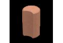 Стовпчик круглий Золотой Мандарин 8 см, червоний