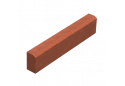 Поребрик Золотой Мандарин 8 см, червоний